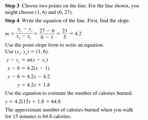 Big Ideas Math Algebra 2 Answers Chapter 1 Linear Functions 1.3 Question 13.2