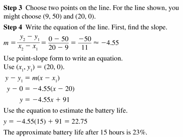 Big Ideas Math Algebra 2 Answers Chapter 1 Linear Functions 1.3 Question 15.2