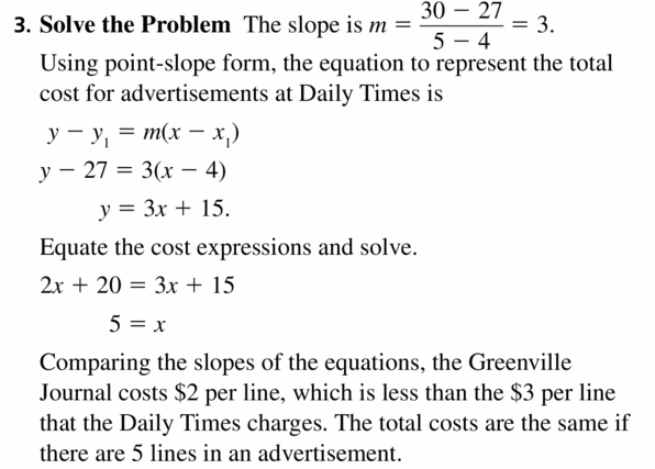 Big Ideas Math Algebra 2 Answers Chapter 1 Linear Functions 1.3 Question 9.2