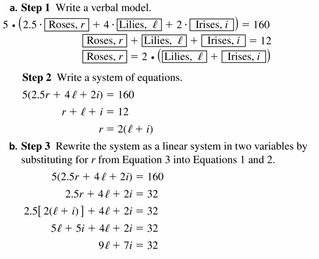 Big Ideas Math Algebra 2 Answers Chapter 1 Linear Functions 1.4 Question 39.1