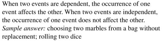 Big Ideas Math Algebra 2 Answers Chapter 10 Probability 10.2 a 1