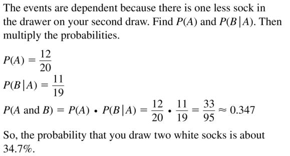 Big Ideas Math Algebra 2 Answers Chapter 10 Probability 10.2 a 13