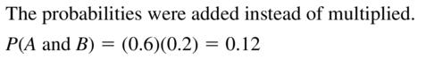 Big Ideas Math Algebra 2 Answers Chapter 10 Probability 10.2 a 15