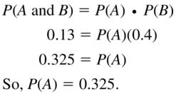 Big Ideas Math Algebra 2 Answers Chapter 10 Probability 10.2 a 17
