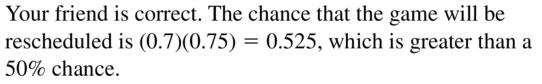 Big Ideas Math Algebra 2 Answers Chapter 10 Probability 10.2 a 27