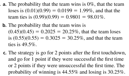 Big Ideas Math Algebra 2 Answers Chapter 10 Probability 10.2 a 29