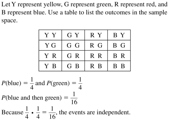 Big Ideas Math Algebra 2 Answers Chapter 10 Probability 10.2 a 7