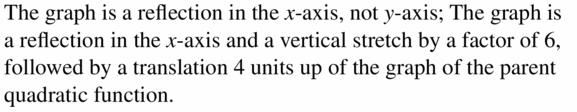 Big Ideas Math Algebra 2 Answers Chapter 2 Quadratic Functions 2.1 Question 25