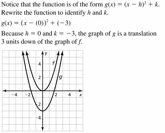 Big Ideas Math Algebra 2 Answers Chapter 2 Quadratic Functions 2.1 Question 3