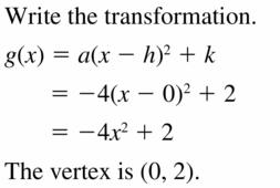 Big Ideas Math Algebra 2 Answers Chapter 2 Quadratic Functions 2.1 Question 31