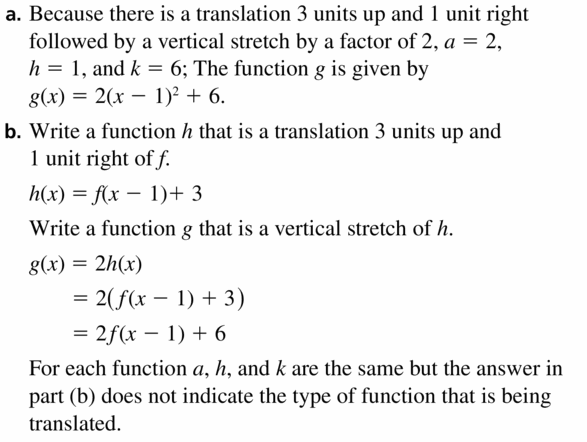 Big Ideas Math Algebra 2 Answers Chapter 2 Quadratic Functions 2.1 Question 47.1