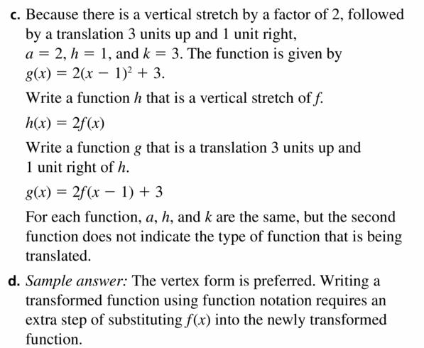 Big Ideas Math Algebra 2 Answers Chapter 2 Quadratic Functions 2.1 Question 47.2