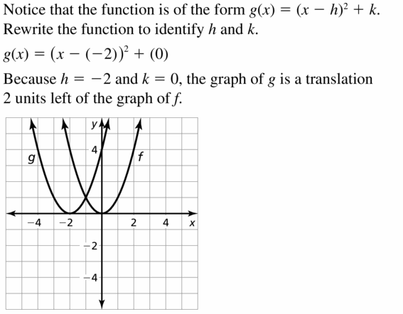 Big Ideas Math Algebra 2 Answers Chapter 2 Quadratic Functions 2.1 Question 5