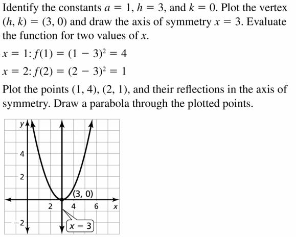 Big Ideas Math Algebra 2 Answers Chapter 2 Quadratic Functions 2.1 Question 51