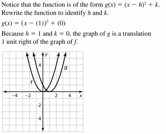 Big Ideas Math Algebra 2 Answers Chapter 2 Quadratic Functions 2.1 Question 7