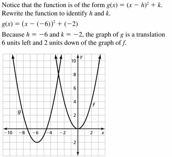 Big Ideas Math Algebra 2 Answers Chapter 2 Quadratic Functions 2.1 Question 9