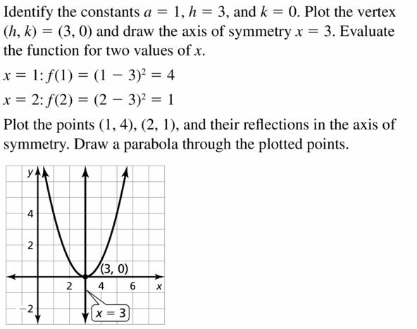Big Ideas Math Algebra 2 Answers Chapter 2 Quadratic Functions 2.2 Question 3