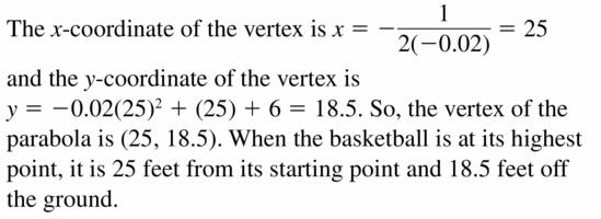 Big Ideas Math Algebra 2 Answers Chapter 2 Quadratic Functions 2.2 Question 35