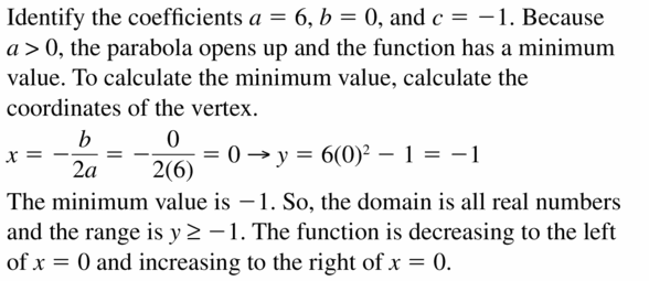 Big Ideas Math Algebra 2 Answers Chapter 2 Quadratic Functions 2.2 Question 39