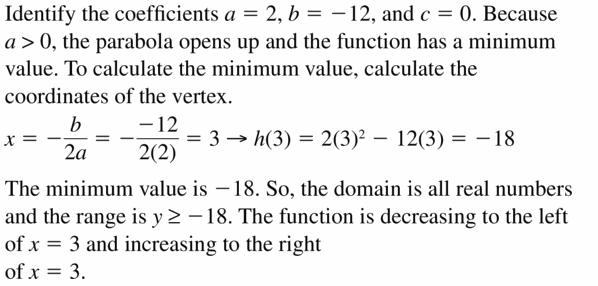 Big Ideas Math Algebra 2 Answers Chapter 2 Quadratic Functions 2.2 Question 45