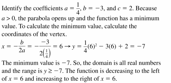 Big Ideas Math Algebra 2 Answers Chapter 2 Quadratic Functions 2.2 Question 47