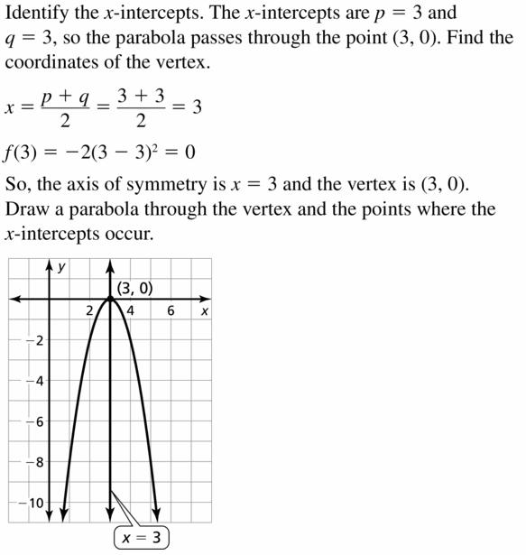 Big Ideas Math Algebra 2 Answers Chapter 2 Quadratic Functions 2.2 Question 59.1