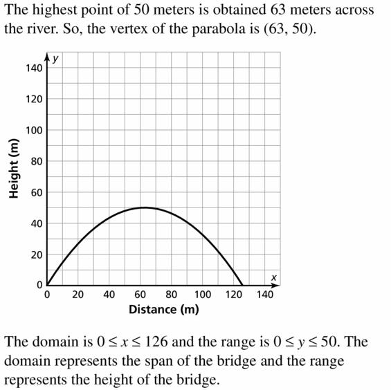 Big Ideas Math Algebra 2 Answers Chapter 2 Quadratic Functions 2.2 Question 75