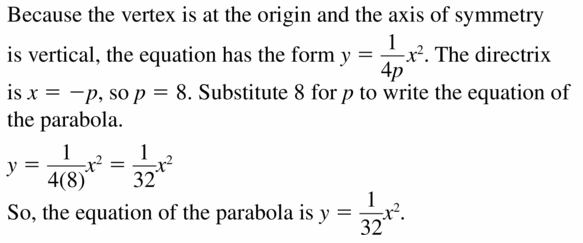 Big Ideas Math Algebra 2 Answers Chapter 2 Quadratic Functions 2.3 Question 25