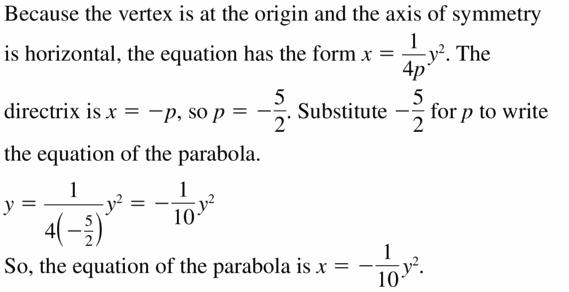 Big Ideas Math Algebra 2 Answers Chapter 2 Quadratic Functions 2.3 Question 27