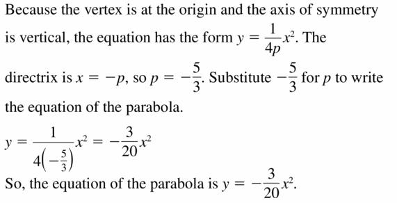 Big Ideas Math Algebra 2 Answers Chapter 2 Quadratic Functions 2.3 Question 33
