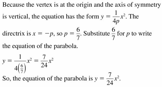 Big Ideas Math Algebra 2 Answers Chapter 2 Quadratic Functions 2.3 Question 35