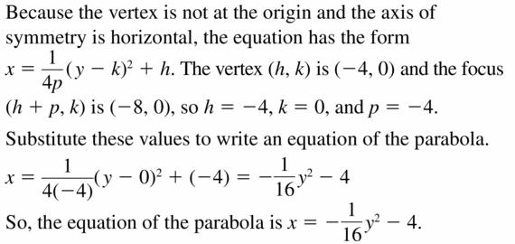 Big Ideas Math Algebra 2 Answers Chapter 2 Quadratic Functions 2.3 Question 37