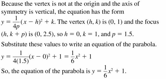 Big Ideas Math Algebra 2 Answers Chapter 2 Quadratic Functions 2.3 Question 39