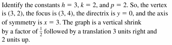 Big Ideas Math Algebra 2 Answers Chapter 2 Quadratic Functions 2.3 Question 41