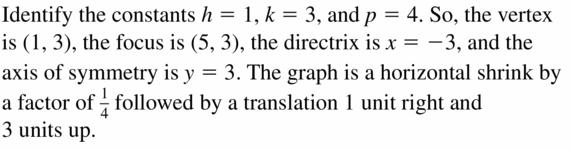 Big Ideas Math Algebra 2 Answers Chapter 2 Quadratic Functions 2.3 Question 43