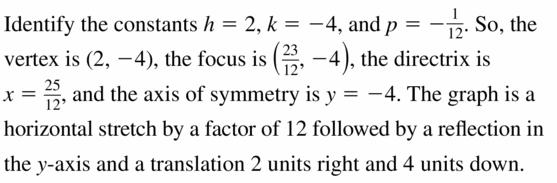 Big Ideas Math Algebra 2 Answers Chapter 2 Quadratic Functions 2.3 Question 45