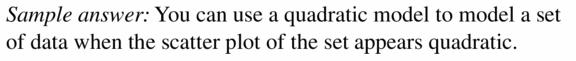 Big Ideas Math Algebra 2 Answers Chapter 2 Quadratic Functions 2.4 Question 1