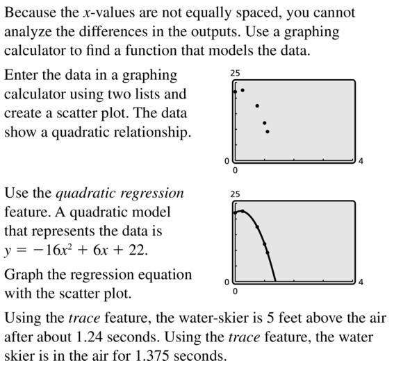 Big Ideas Math Algebra 2 Answers Chapter 2 Quadratic Functions 2.4 Question 35.1
