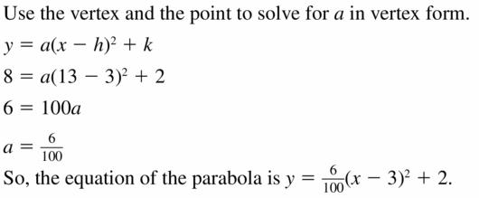 Big Ideas Math Algebra 2 Answers Chapter 2 Quadratic Functions 2.4 Question 5
