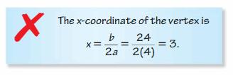 Big Ideas Math Algebra 2 Answers Chapter 2 Quadratic Functions 25