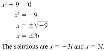 Big Ideas Math Algebra 2 Answers Chapter 3 Quadratic Equations and Complex Numbers 3.2 a 49