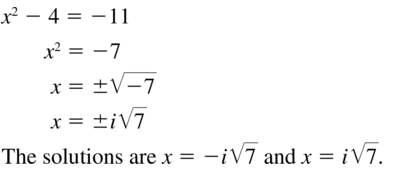 Big Ideas Math Algebra 2 Answers Chapter 3 Quadratic Equations and Complex Numbers 3.2 a 51