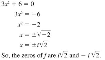 Big Ideas Math Algebra 2 Answers Chapter 3 Quadratic Equations and Complex Numbers 3.2 a 55
