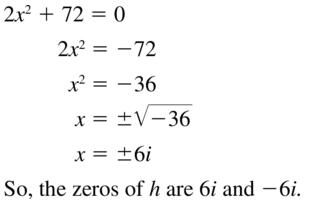Big Ideas Math Algebra 2 Answers Chapter 3 Quadratic Equations and Complex Numbers 3.2 a 57