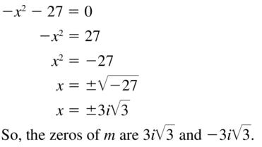 Big Ideas Math Algebra 2 Answers Chapter 3 Quadratic Equations and Complex Numbers 3.2 a 59