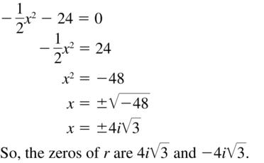 Big Ideas Math Algebra 2 Answers Chapter 3 Quadratic Equations and Complex Numbers 3.2 a 61