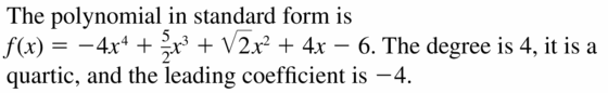 Big Ideas Math Algebra 2 Answers Chapter 4 Polynomial Functions 4.1 Question 23
