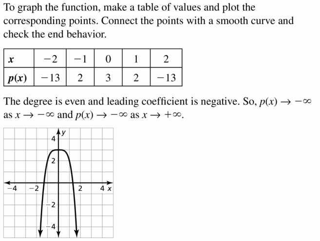 Big Ideas Math Algebra 2 Answers Chapter 4 Polynomial Functions 4.1 Question 25