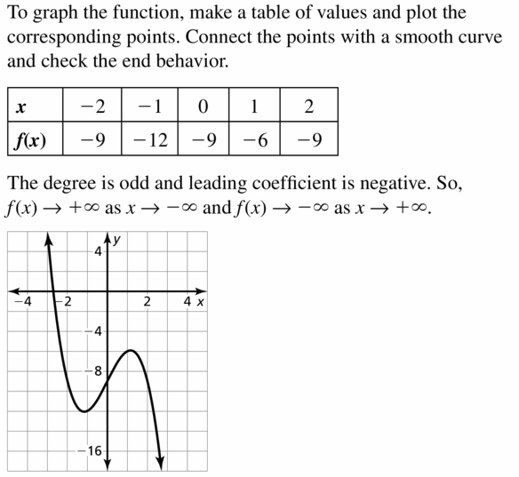 Big Ideas Math Algebra 2 Answers Chapter 4 Polynomial Functions 4.1 Question 27