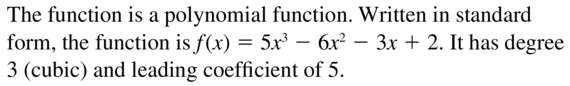 Big Ideas Math Algebra 2 Answers Chapter 4 Polynomial Functions 4.1 Question 3